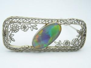 e6156.1 black opal brooch