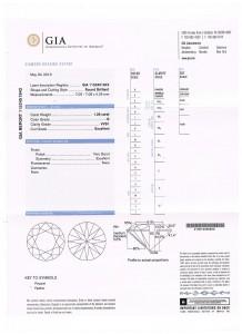 e7483 cert 1.28ct VVS1-G ex vg ex non