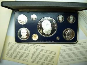 Panama coins set 1976