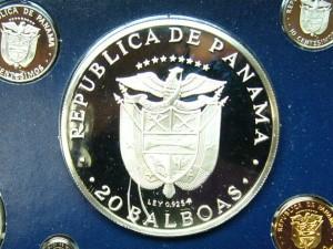 e7771 20 Balboas Panama coin