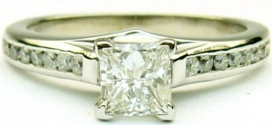 e7928 0.95ct tw princess cut ring