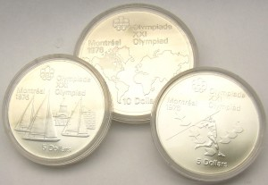e8059 Montreal Olympic coin set 1976
