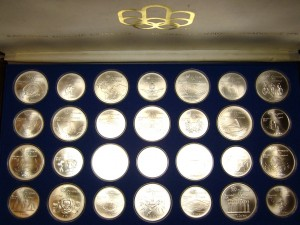 e8059.1 Olympic coin set Montreal 1976