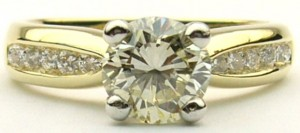 e7423 1.01ct SI1-M 18kt plat ring