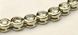 e8071 tennis style diamond necklace 2.10ct tw