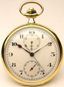 e8101 Omega pocket watch chronograph 18kt