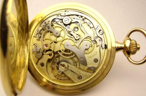 e8101.2 Omega 18kt gold pocket watch chronograph