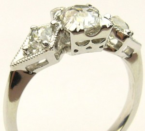 e8163.1 mine cut diamond ring