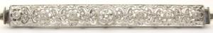 e8196 art deco 18kt diamond brooch