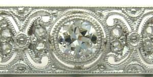 e8196.1 Art Deco brooch 18kt with diamonds