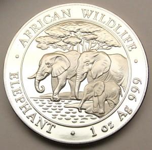 Somali Rebublic 100 Shilling fine silver coin 1 ounce