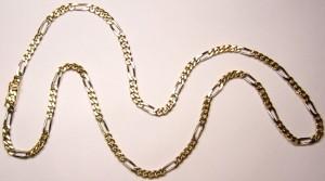 e8180 18kt figaro chain