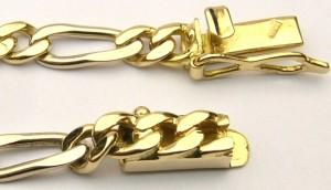 e8180.1 18kt two tone figaro chain