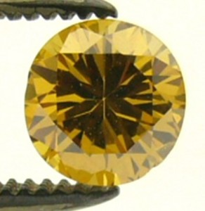 e6251 0.44ct orange diaond treated