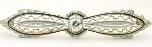 e8459 antique diamond brooch 14 karat