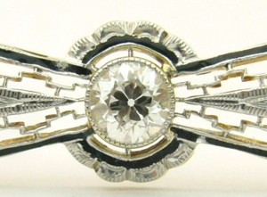 e8459.1 Antique filigree diamond brooch