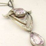 e8463 morganite diamond pendant