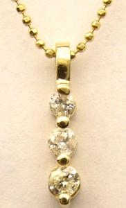 e8520 3 stone diamond pendant