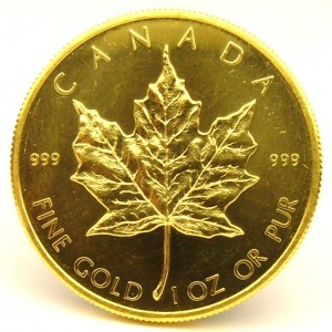 e8563 Canadian maple leaf coin 999 fine gold coin