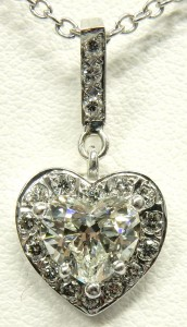 1.04ct. VVS1-I GIA certified heart shaped diamond