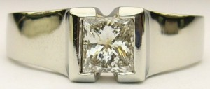 e7597 0.72ct princess cut solitaire