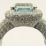 e8535.1 5.5ct aquamarine and diamond ring