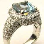 e8535.2 5.50ct. aquamarine and diamond ring