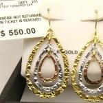 e8574.1 tri-colour drop earrings