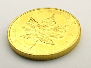 e8618 Canadian maple leaf gold coin 1 oz.