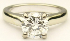 e6995.1 Michael Smiley solitaire 1.12ct VS2-E GIA cert