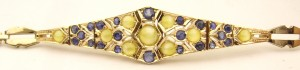 e8710.2 antique cat's eye chrysoberyl sapphire bracelet