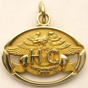 e8738 Harley owners group 10kt gold pendant
