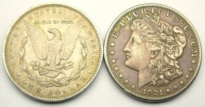 1988 1921 Morgan dollar
