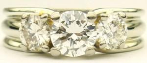 e8835 Michael Smiley custom 3 stone