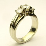 e8835.1 Michael Smiley three stone diamond ring