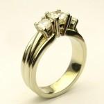 e8835.1 Michael Smiley three stone diamond ring