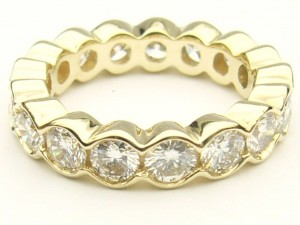 e8901 2.66ct. eternity ring yellow gold