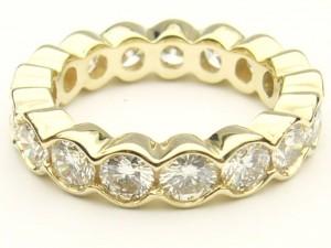 e8901 2.66ct. eternity ring yellow gold