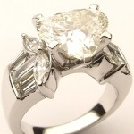 e8911.1 3.26ct heart shaped diamond ring GIA certified