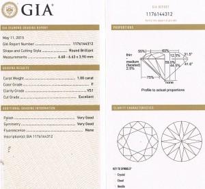 1.00ct. VS1-F GIA cert 1176144312 e6995
