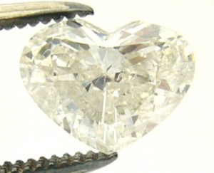 e3117 heart shape 1.00ct. I1-I diamond