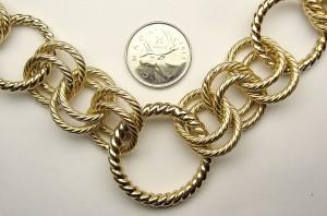 e8999 Italian circular link necklace
