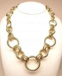 e8999 hollow 14k circle necklace