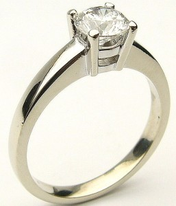 e9005 0.74ct SI2-H white gold solitaire Jeff Walters