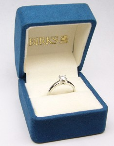 e9034 BIRKS diamond ring box platinum
