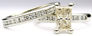 e9080 e9081 clarity enhanced diamond ring set