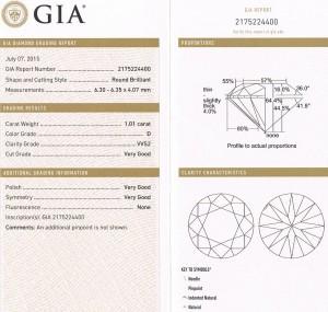 e9093 1.01ct. round VVS2-D GIA cert 2175224400