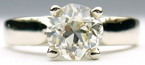 e9152.2 1.13ct. SI2-L European cut solitaire