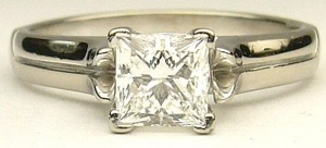 e9191 0.70ct. VS2-G princess cut Canadian diamond ring