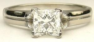 e9191 0.70ct. VS2-G princess cut Canadian diamond ring